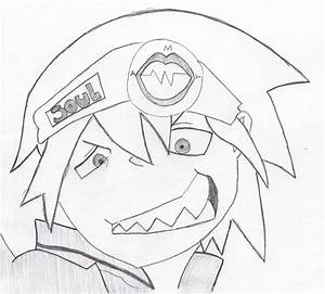 Soul Eater Evans Easy Drawing Sketch Coloring Page