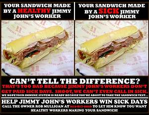 Jimmy John's Workers Are Sick of Working Sick