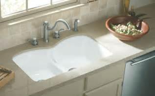 white kitchen sink faucets kohler k 6626 6u 0 langlade smart divide undercounter kitchen sink white bowl sinks