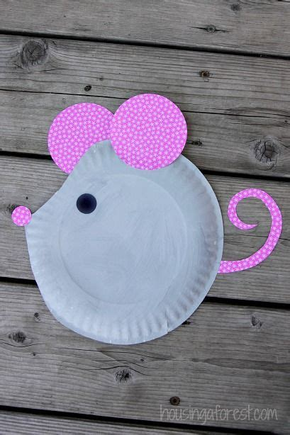 paper plate mouse easy kids craft paper plate crafts