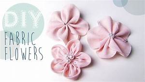 Stoff Mit Blumen : diy stoff blumen selber machen youtube ~ Watch28wear.com Haus und Dekorationen