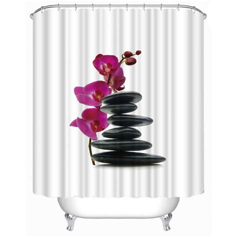 floar fabric shower curtains eco friendly polyester