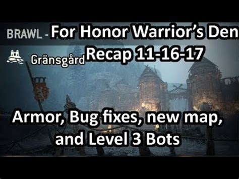 Warrior's Den Recap 111617  Level 3 Bot Change, New Brawl Map, And Upcoming Fixes! Youtube