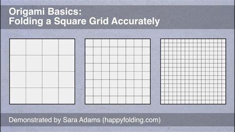 origami basics folding  square grid accurately youtube