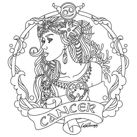 cancer zodiac color cancer zodiac colouring page to color