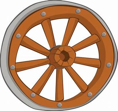 Wheel Wagon Clipart Wheels Clip Cliparts Wooden