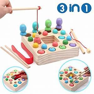 Spielzeug Für Mädchen : symiu holzspielzeug angelspiel montessori lernspielzeug ~ A.2002-acura-tl-radio.info Haus und Dekorationen