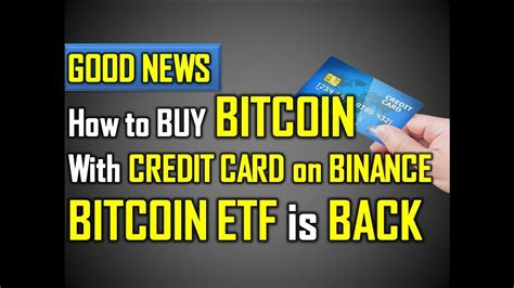 We've told you how to buy bitcoin with a credit card, now let's take a look at a few places where you can do it. How To Buy Bitcoin With Credit Card Binance | Earn Bitcoin Google Chrome