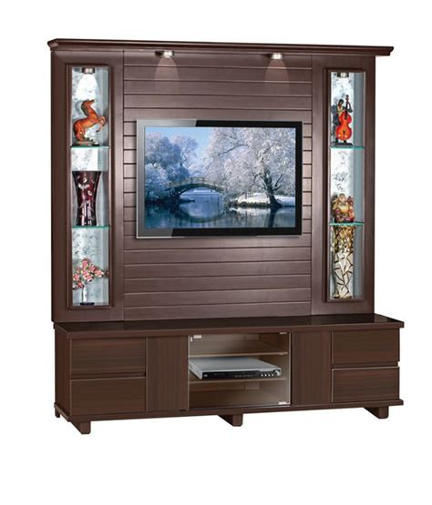 tv wall cabinet homecraft tv wall cabinet with display shelves buy