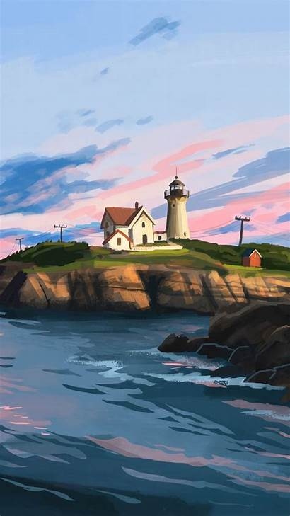 Lighthouse Rocks Lenovo Vibe Background Z2 S4