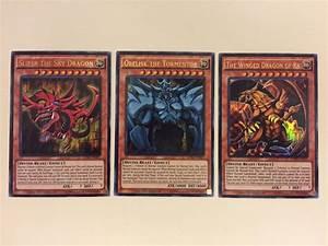 Yu-Gi-Oh SLIFER / OBELISK / RA Set of 3 Egyptian God Cards ...