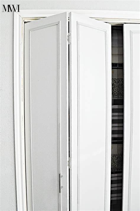 How To Make Bifold Closet Doors by How To Update 1970 S Bi Fold Closet Doors Makeovers
