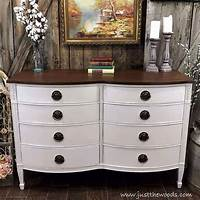 ideas for painted furniture How to Get Farmhouse White Painted Furniture by Just the Woods