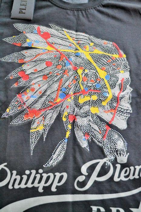 philipp plein totenkopf philipp plein t shirt totenkopf mit feder indianer neu catawiki