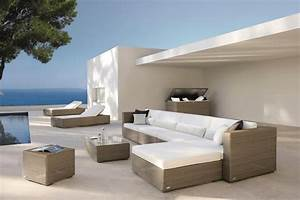 31 salons de jardin lounge pour la zone pres de la piscine With superb decoration de jardin exterieur 9 deco salon moderne photos