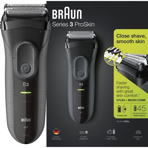 braun series  proskin  men electric rechargeable shaver smooth