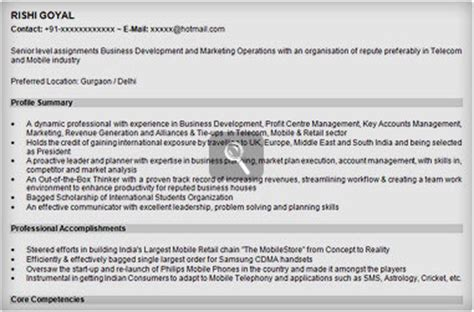 register my resume in naukricom marketing resume sle sle resume for marketing naukri