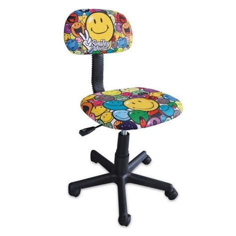chaise de bureau jaune smiley chaise de bureau enfant petit modèle achat