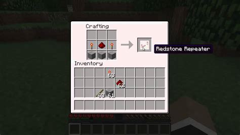 minecraft   craft  redstone repeater  youtube