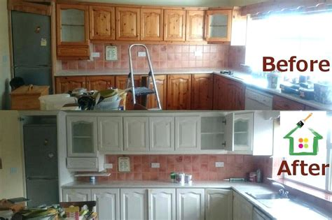 cost to repaint cabinets cost to paint cabinet doors before after kitchen painting