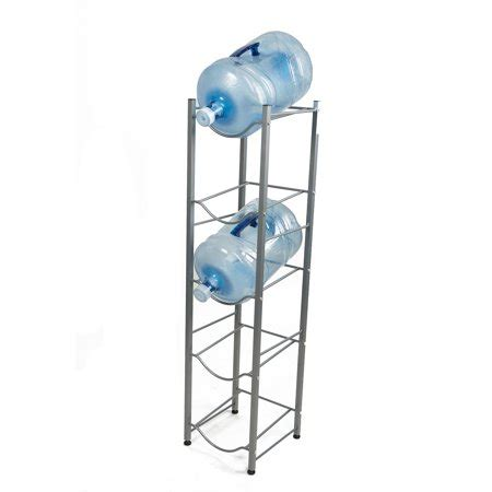 Water Gallon Stand mind reader 5 tier water cooler jug rack silver walmart
