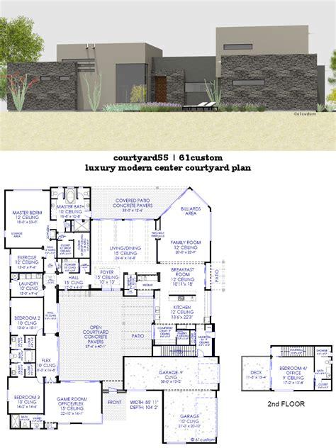 modern luxury floor plans courtyard house plans 61custom contemporary modern house plans