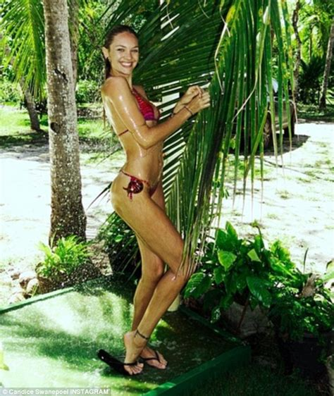 Candice Swanepoel Strips To A String Bikini For A Sexy