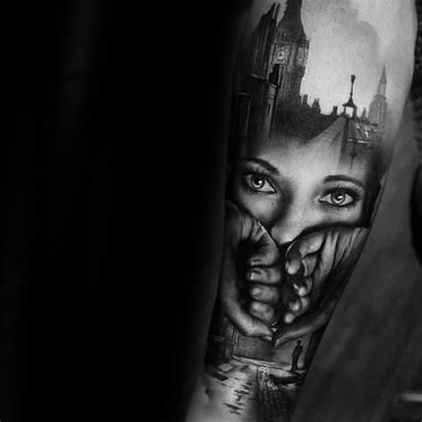 double exposure tattoo designs  men photographic