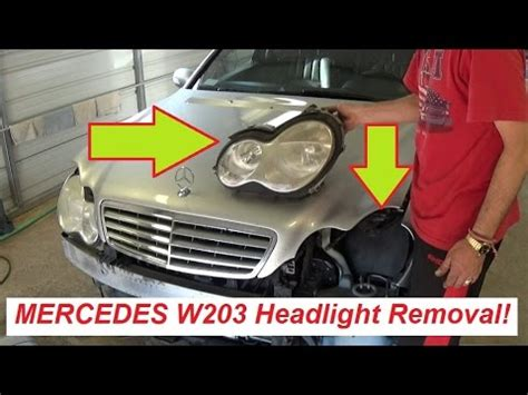 mercedes w203 headlight removal and replacement c160 c180