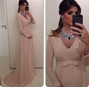 formal chiffon maternity mother clothing empire waist bow With robe de soirée femme enceinte