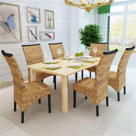 set de cuisine en rotin acheter vidaxl set de 6 chaises en rotin abaca brun