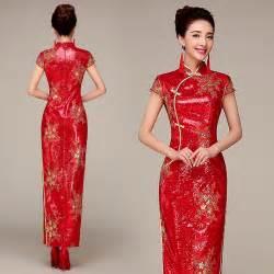 sleeve wedding dress sequins fabric traditional wedding qipao