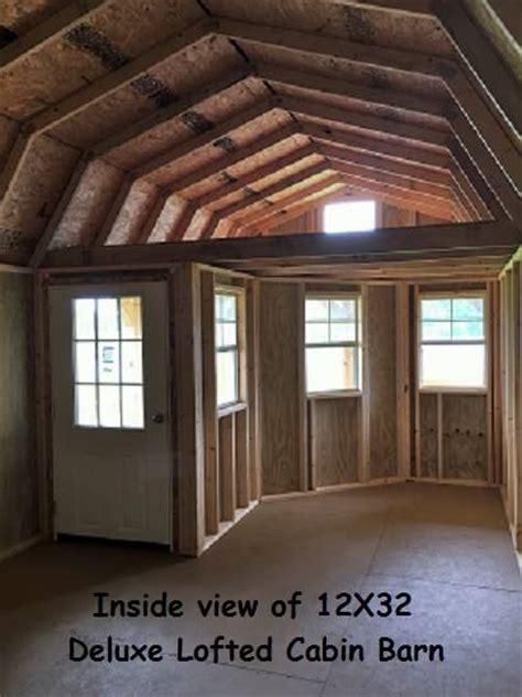 premier deluxe lofted barn cabin storage building
