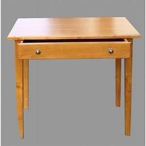 Petite Table Bureau : petit bureau ou table crire en acajou ouvrant par un tiroir petit pictures to pin on pinterest ~ Teatrodelosmanantiales.com Idées de Décoration