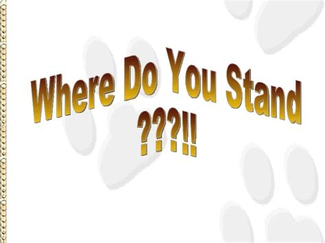 What Do U Do For by Where Do You Stand
