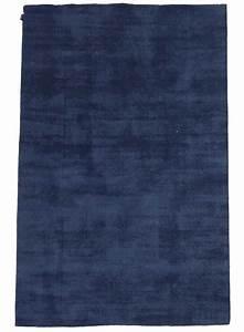 tapis salon en pure laine clip bleu marine With tapis laine bleu