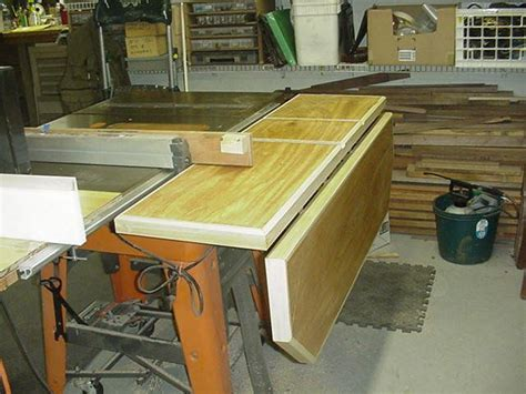 tablesaw outfeed table  outfeed table router tables