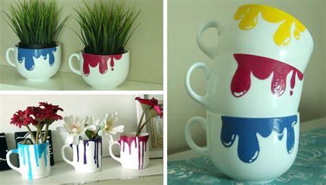 fun making dripping paint mugs crafts heaven