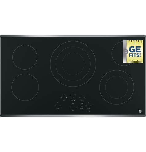 ge  built  touch control electric cooktop jpdjbb  appliances