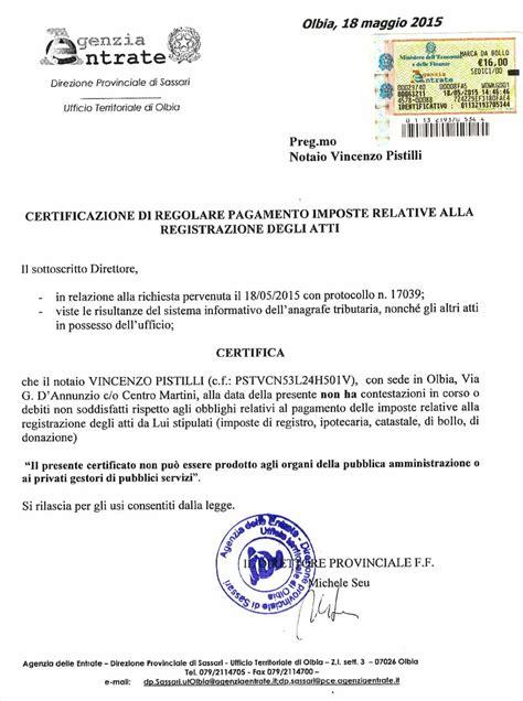 Ufficio Delle Entrate Bollo by Pistilli Nessun Debito Con L Agenzia Delle Entrate E