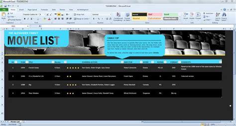 list spreadsheet template  excel