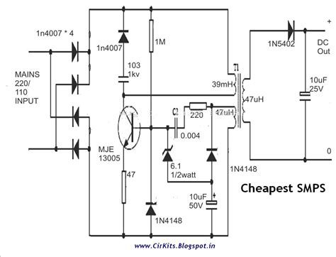 Cheapest Smps Circuit Using Mje Everyday Electronics
