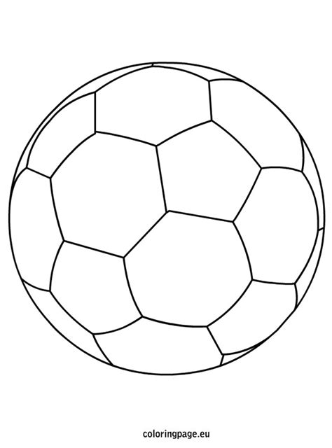 soccer ball coloring page coloring page