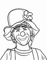 Clown Coloring Pages Printable Circus Drawing Categories Supercoloring sketch template