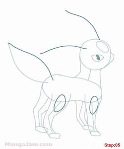 How to Draw Umbreon from Pokemon - Mangajam.com