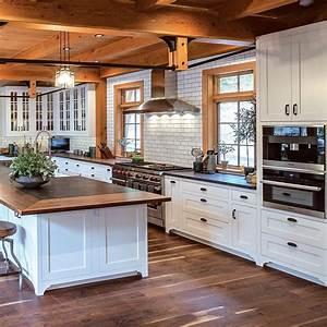 Timber, Home, Living, On, Instagram, U201ctip, A, Smart, Kitchen, Layout, Features, A, Balance, Between, Stora