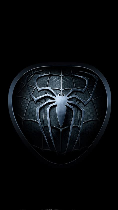 Android Black Hd Wallpaper For Mobile by Black Spider Logo Wallpaper Sc Smartphone