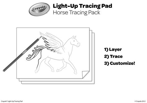 Horse Tracing Pack Coloring Page