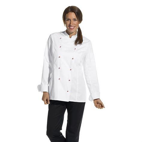 veste de cuisine veste de cuisine femme manches longues cintrée poche sur