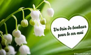 envoyez une e card 1er mai un brin de muguet With affiche chambre bébé avec bouquet de fleurs virtuel anniversaire